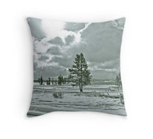 Yellowstone in Black and White #11 Throw Pillow