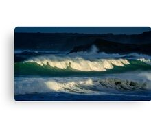 Winter Surf in Newquay,Cornwall Canvas Print