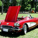 1960 Classic Corvette Convertible by Glenna Walker