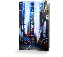 Times Square New York Abstract Realism Greeting Card