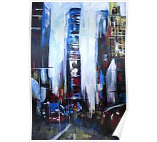 Times Square New York Abstract Realism Poster