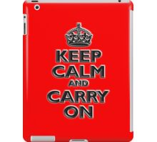 Keep Calm & Carry On, British, UK, Britain, Blighty, Chisel on Red iPad Case/Skin