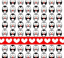 penguin, would you be my valentine? by claclina