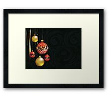 Red and Gold Christmas Balls Framed Print
