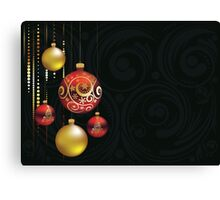 Red and Gold Christmas Balls Canvas Print
