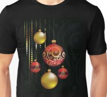 Red and Gold Christmas Balls Unisex T-Shirt
