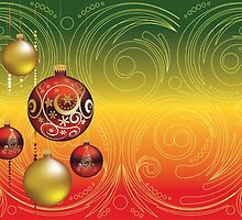Red and Gold Christmas Balls 2 by AnnArtshock