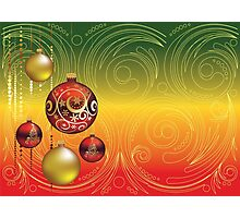 Red and Gold Christmas Balls 2 Photographic Print
