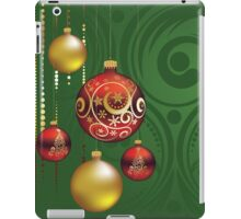 Red and Gold Christmas Balls 3 iPad Case/Skin
