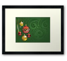 Red and Gold Christmas Balls 3 Framed Print