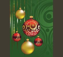 Red and Gold Christmas Balls 3 Unisex T-Shirt