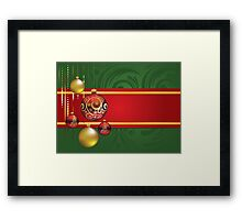 Red and Gold Christmas Balls 4 Framed Print