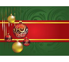 Red and Gold Christmas Balls 4 Photographic Print