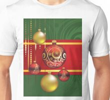 Red and Gold Christmas Balls 4 Unisex T-Shirt
