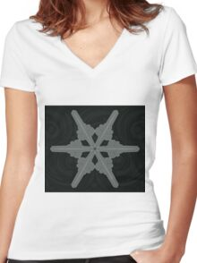 Ornament Snowflake 2 Women's Fitted V-Neck T-Shirt