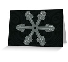 Ornament Snowflake 3 Greeting Card
