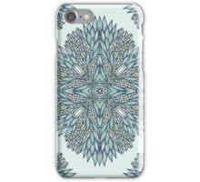 Blue ornamental flowers iPhone Case/Skin