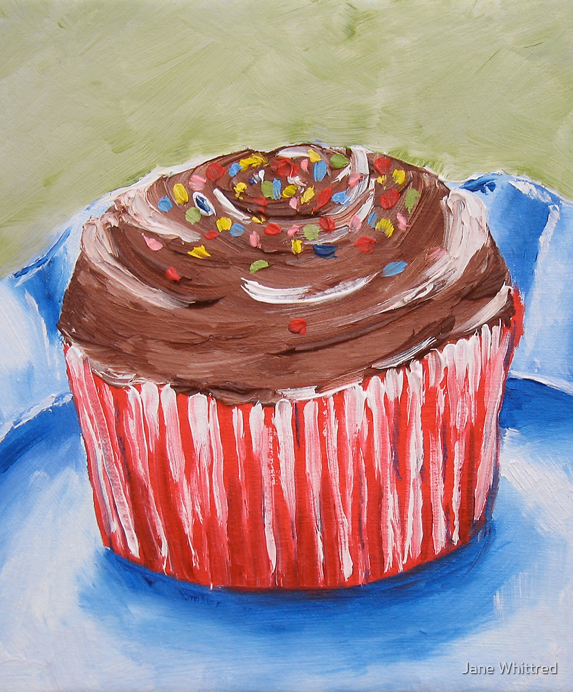 Choc top cupcake by Jane Whittred