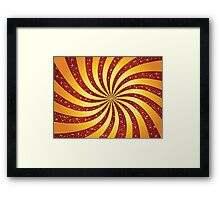 Red background with golden rays Framed Print