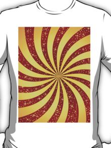 Red background with golden rays T-Shirt
