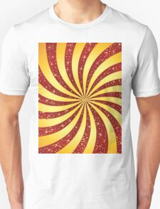 Red background with golden rays Unisex T-Shirt