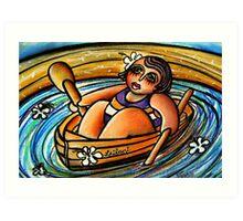 Leilani at Sea Art Print