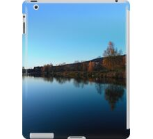 Indian summer sunset at the fishing lake | waterscape photography iPad Case/Skin