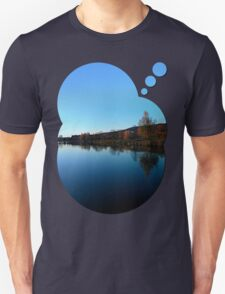 Indian summer sunset at the fishing lake | waterscape photography T-Shirt