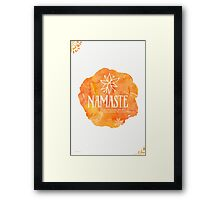 Namaste Mango color Framed Print