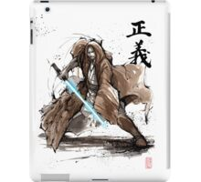 Jedi Knight from Star Wars with calligraphy iPad Case/Skin