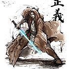 Jedi Knight from Star Wars with calligraphy by Mycks