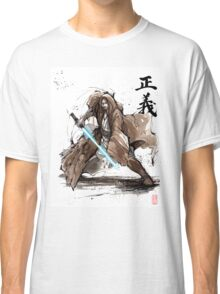 Jedi Knight from Star Wars with calligraphy Classic T-Shirt