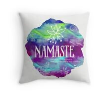 Namaste Confetti mix watercolor Throw Pillow