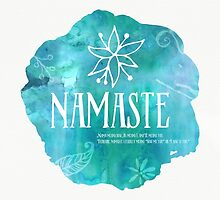 Namaste River watercolor by Pranatheory