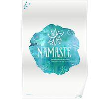 Namaste River watercolor Poster