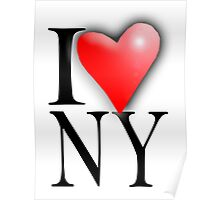 I LOVE NY, I LOVE NEW YORK, New York City, City of New York, America, American, USA Poster
