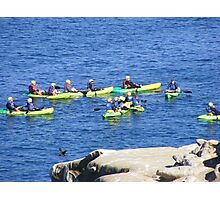 La Jolla, California ~ Great Day For Kayaking Photographic Print