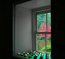 The Red Mill Thru the Window by Mary Campbell