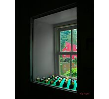 The Red Mill Thru the Window Photographic Print