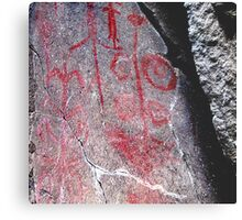 """Hemitite Pictographs from 10,000 B.C. in """"Picture Gorge"""", Oregon Metal Print"""