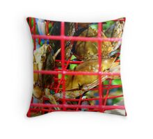 Crabs In CrabTrap Throw Pillow