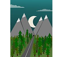 Moonrise Mountains Photographic Print