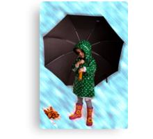 Raining Canvas Print