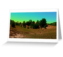 Neon skies Greeting Card
