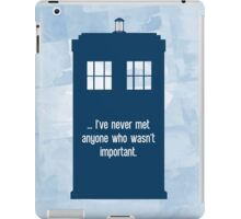 Doctor Who  - Tardis with Quote  iPad Case/Skin