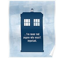 Doctor Who  - Tardis with Quote  Poster