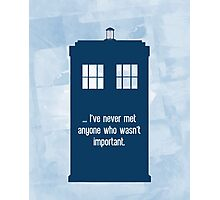 Doctor Who  - Tardis with Quote  Photographic Print