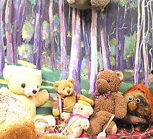 Teddy Bears Picnic and Katy Koala drops in for a bit of fun too by Virginia McGowan