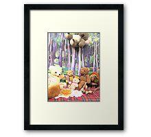 Teddy Bears Picnic and Katy Koala drops in for a bit of fun too Framed Print