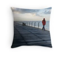 Red Coat Throw Pillow